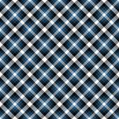 Seamless Blue & Black Diagonal Plaid — Stock Photo
