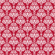 Seamless Cherry Red & White Damask - Photo