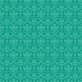 Seamless Turquoise Damask — Stock Photo