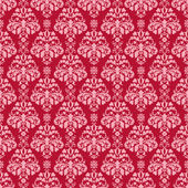 Seamless Cherry Red & Pink Damask — Stock Photo