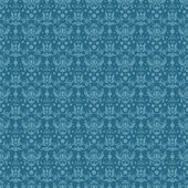 Seamless Blue Damask — Stock Photo