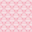Seamless Pink & White Damask — Stock Photo