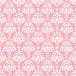 Seamless Pink & White Damask — Stock Photo