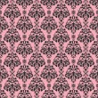Seamless Pink & Black Damask — Stock Photo