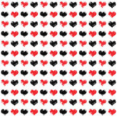 Seamless Hearts Design — Stock Photo