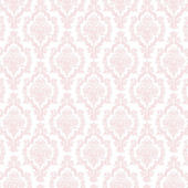 Seamless Pastel Pink & White Damask — Stock Photo