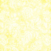 Vintage Pale Yellow Floral Tapestry — Foto de Stock