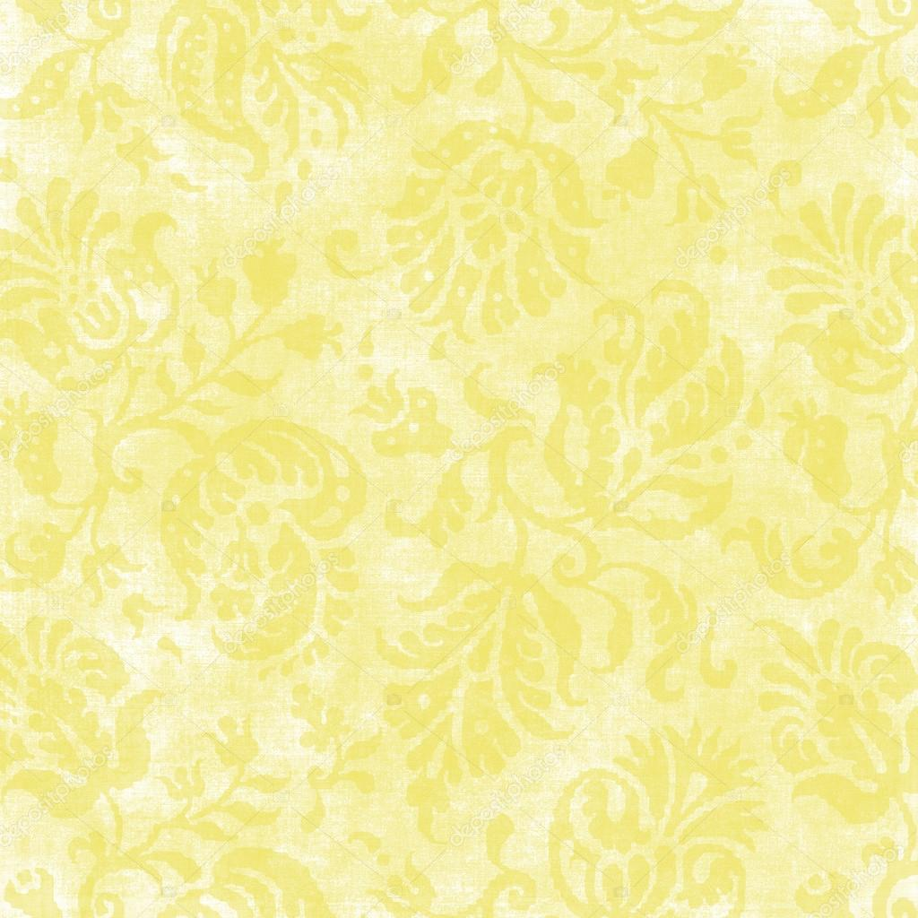 Vintage Pale Yellow Floral Tapestry — Stock Photo ...
