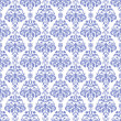 Blue & White Damask - Stock Photo