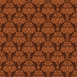 Seamless Brown Damask - Stock Photo