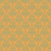 Seamless Warm Damask — Stock Photo