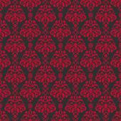 Naadloze zwarte & cherry rode damast — Stockfoto