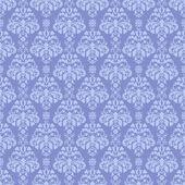 Seamless Blue Damask Pattern — Stock Photo