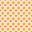Seamless Bright Hearts Pattern — Stock Photo #18560265