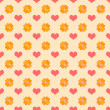 Stock Photo: Seamless Bright Hearts Pattern