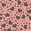 Stock Photo: Seamless Heart Pattern