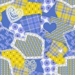 Seamless Crazy Quilt Pattern - Stock Photo