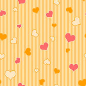 Seamless Hearts & Stripes — Stock Photo