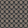 Stock Photo: Seamless Blue Grey Damask Pattern