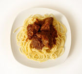 Spaghetti with beef — Stock Photo