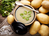 Potato cream soup — Stock Photo