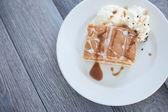 苹果派和冰淇淋 — 图库照片