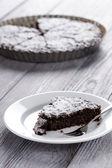 Chocolate cake slice — Stock Photo
