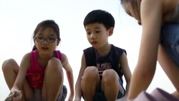 Frères et sœurs jouant — Vidéo