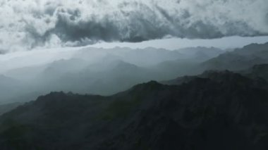 Aerial View Mountain Range — Stock Video