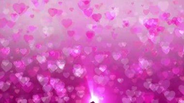 Hearts dancing — Stock Video