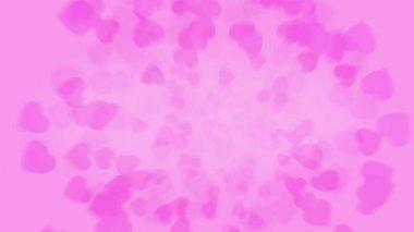 Spinning rose petals — Stock Video