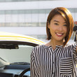 Lady with car keys — 图库照片