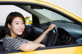 Lady driver — Stock Photo