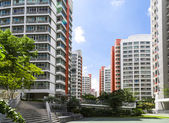 Orange color residential apartments — Foto de Stock