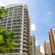 Orange color residential apartments — Stock Photo
