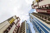 Immobilier résidentiel coloré — Photo