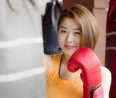Lady boxer — Stockfoto
