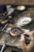 Šperky tvorba — Stock fotografie