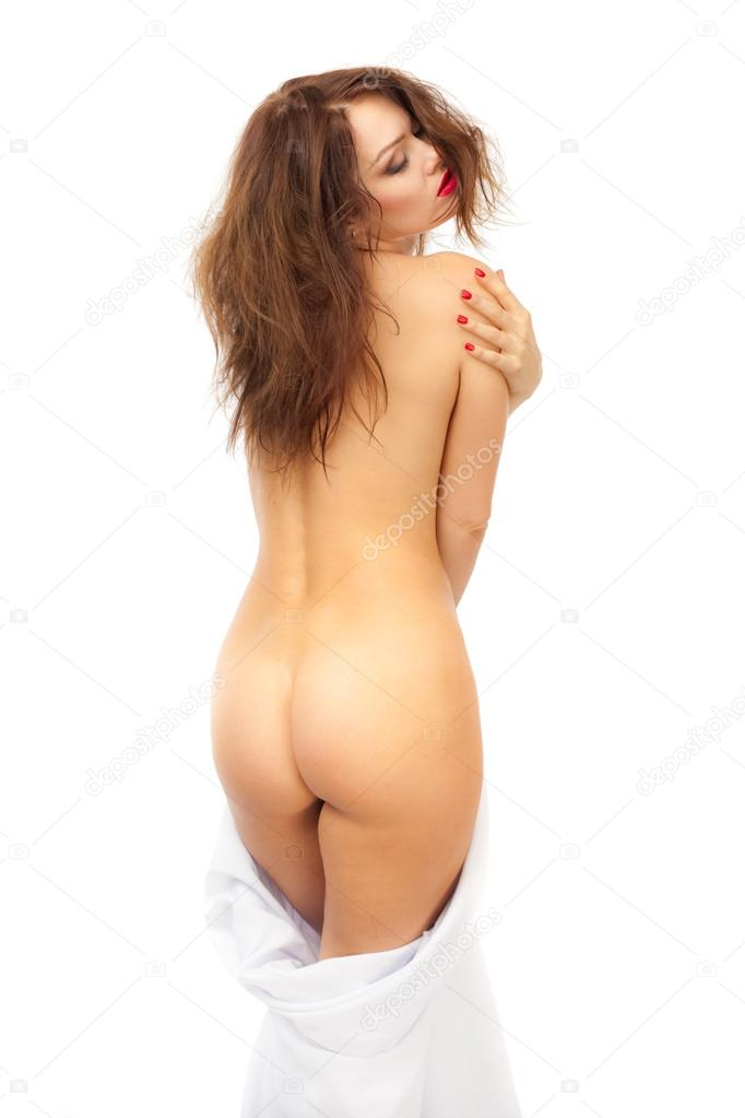 Naked girl on back