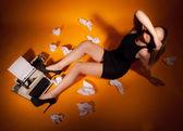 Piękne dziewczyny biuro — Zdjęcie stockowe