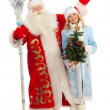 Santa Claus and Snow Maiden — Stock Photo #36360971