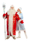 Santa Claus and Snow Maiden — Stock Photo