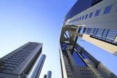 Blue sky  and  Umeda Sky Building in Osaka Japan — Foto Stock