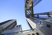 Blue sky  and  Umeda Sky Building in Osaka Japan — Stock Photo