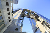 Blue sky  and  Umeda Sky Building in Osaka Japan — ストック写真