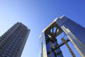 Blue sky  and  Umeda Sky Building in Osaka Japan — Photo