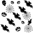 Halloween seamless background with bats — Stock Vector