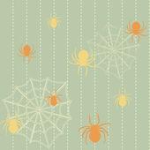Spinnen und nahtlose webhintergrund — Stockvektor