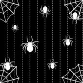 Spiders and web seamless background — Vecteur