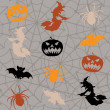 Royalty-Free Stock Imagen vectorial: Halloween seamless background